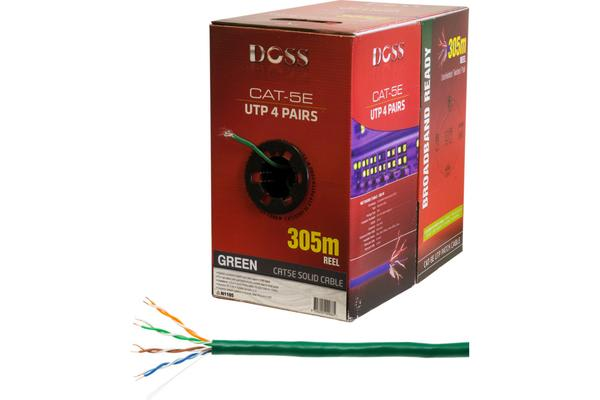 Doss 305M Cat5E Solid Cable Green