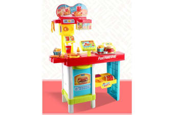 Kids Fast Food RC Shop Play Set w Remote Control