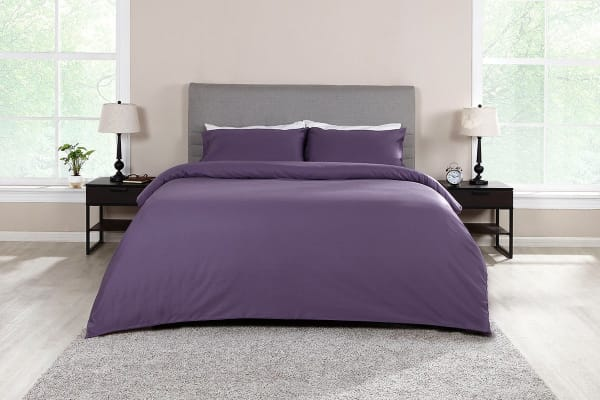 Ovela 1000TC 100% Egyptian Cotton Quilt Cover Set (King, Lilac)