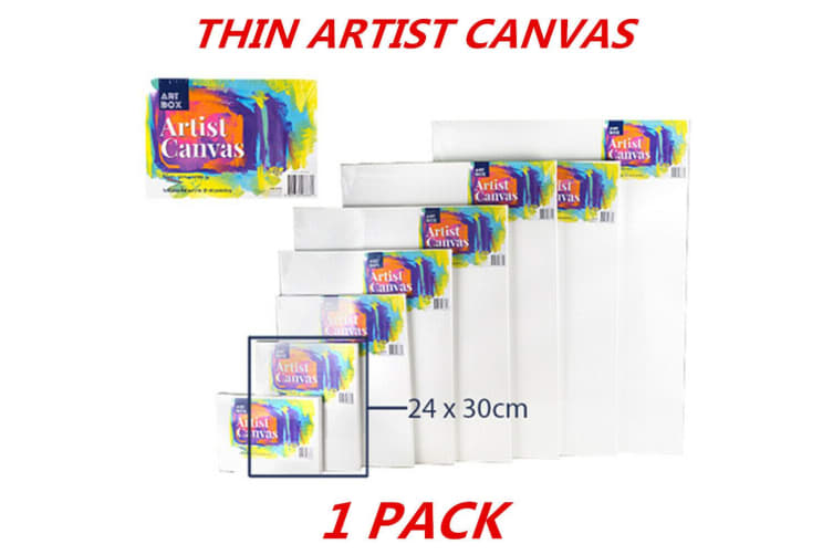 1 x Blank Painting Canvas Artist Stretched White Primer Oil Acrylic Board Frame 2430