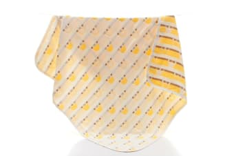 Select Mall 6 Layers of Gauze Bath Towel Soft Baby Children's Bath Towel Strong Absorbent Dry Cleaning Towel-Yellow