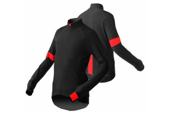 Jackbroad Premium Quality Bike Long Sleeves Jersey Red XL