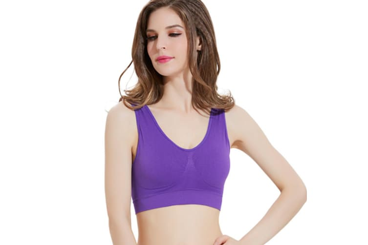 12 Colors Women  Workout and Gym Seamless Yoga Sports Bra  S