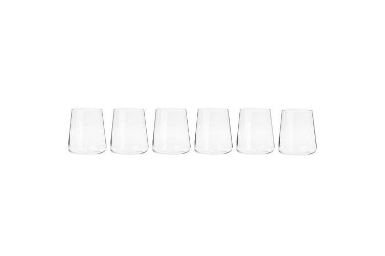 6pc Krosno Avant-Garde 380ml Tumblers Stemless Wine Liquor Barware Glasses Set