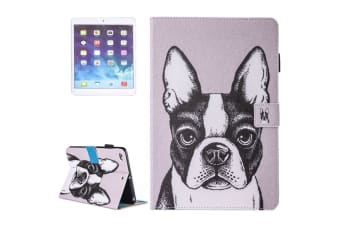 For iPad 2018 2017 9.7in Wallet Case French Bulldog Durable Leather Cover