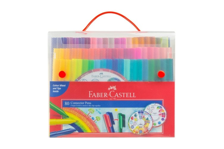 Faber-Castell 80 Piece Connector Pen Set