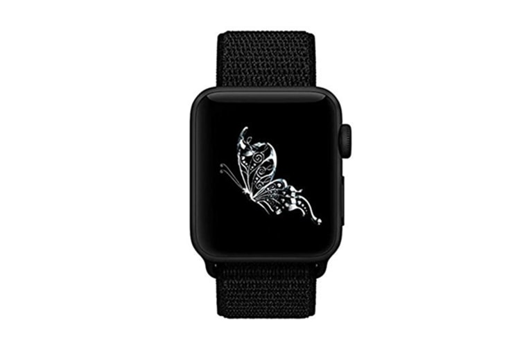 Smart Watch Band, Nylon Sport Loop Wrist Strap Replacment Band For Iwatch Series 1 /2 / 3 Black 38Mm