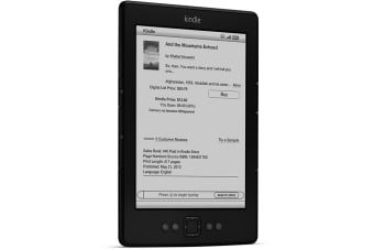 "Amazon Kindle 6"" E-Ink Wi-Fi eReader Refurbished (2GB, Black)"
