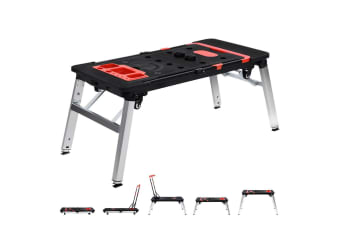 7in1 Work Platform Bench Station Workbench Hand Truck Trolley Sawhorse Creeper