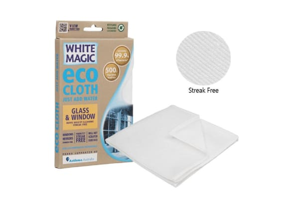 White Magic Eco Cloth Glass And Window Cleaning Cloth 32 X 32cm