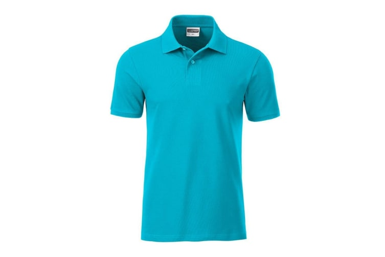 James and Nicholson Mens Basic Polo (Turquoise) (XXL)