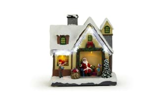 Christmas LED Snowy Xmas Village Scene Table Decoration Lights
