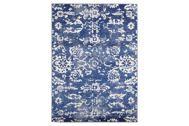 Donna Navy Transitional Rug 290x200cm