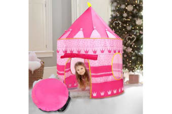 New Kid Children Play Tent Pink Princess Castle
