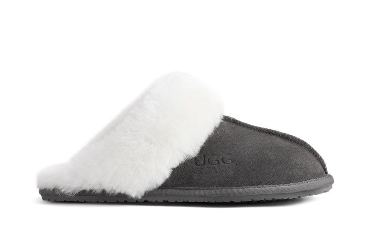 Outback Ugg Slippers - Premium Sheepskin (Grey, 9M / 10W US)
