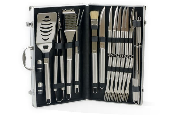 24 Piece Stainless Steel BBQ Tool Set