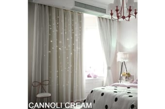 Star Blockout Curtain in CREAM 140X213CM