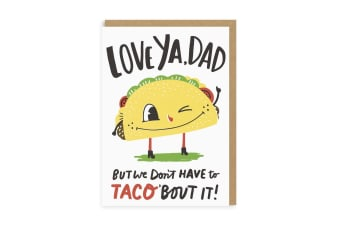 Ohh Deer Taco Dad Greeting Card (Multicoloured) (One Size)