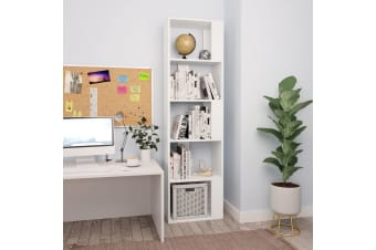 vidaXL Book Cabinet/Room Divider White 45x24x159 cm Chipboard