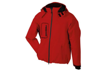 James and Nicholson Mens Winter Softshell Jacket (Red) (M)