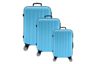 Lenoxx Hard Case Lightweight Luggage Set Of 3 - Blue