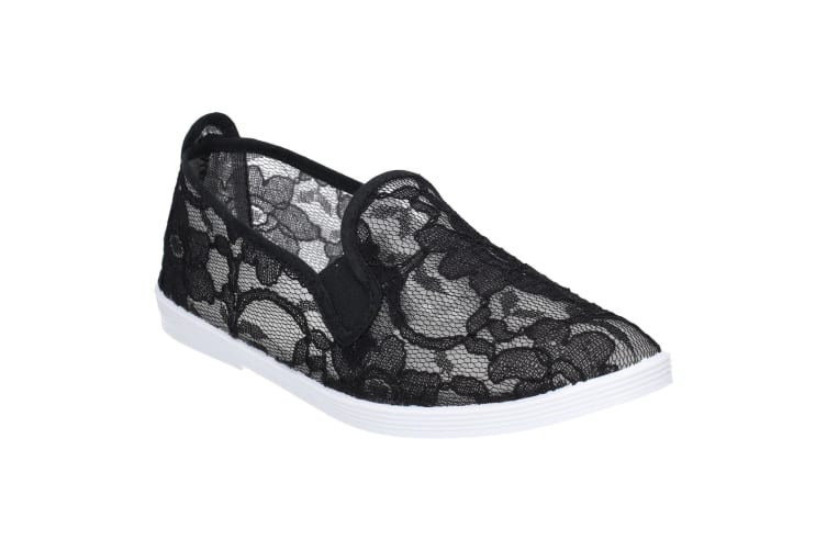 Flossy Womens/Ladies Bimba Slip On Shoe (Black) (4 UK)