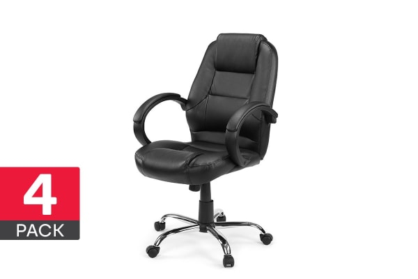 4 Pack Ergolux High Back Padded Office Chair