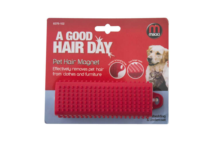 Interpet Limited Mikki Pet Hair Magnet (Red) (One Size)