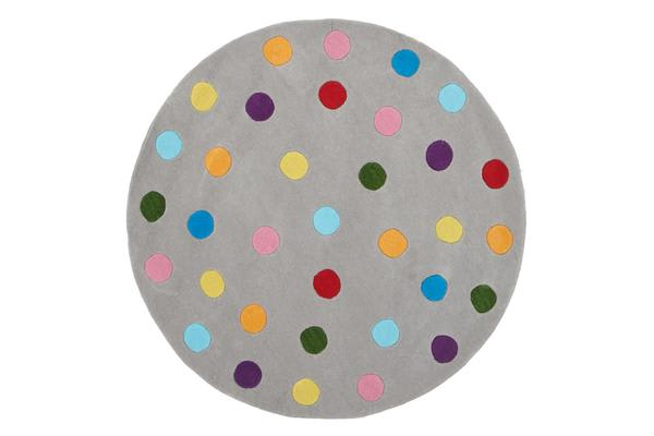 Kids Dots Design Rug Grey 150x150cm