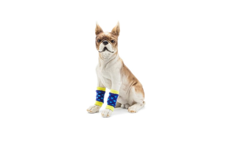 Pet Sock Protect Joint Knee Pads Support Brace Hind Leg Hock Joint Wrap Black White M