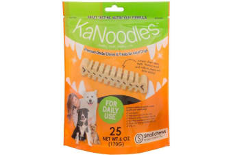 KaNoodles Small Dog Dental Treat & Chew - 25 Pack (170 gram) Small