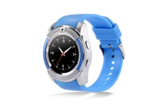 "TODO Bluetooth V3.0 Smart Watch 1.22"" Hd Lcd Rechargeable 3Mp Camera - Blue"