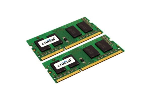 Crucial 16GB Kit (8GBx2) DDR3L 1600 MT/s  (PC3L-12800) CL11 SODIMM 204pin 1.35V/1.5V