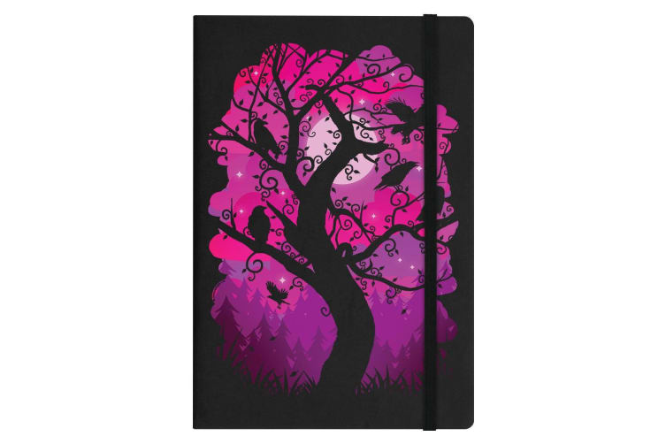 Grindstore Crow Arbor Silhouette A5 Hard Cover Notebook (Black) (One Size)