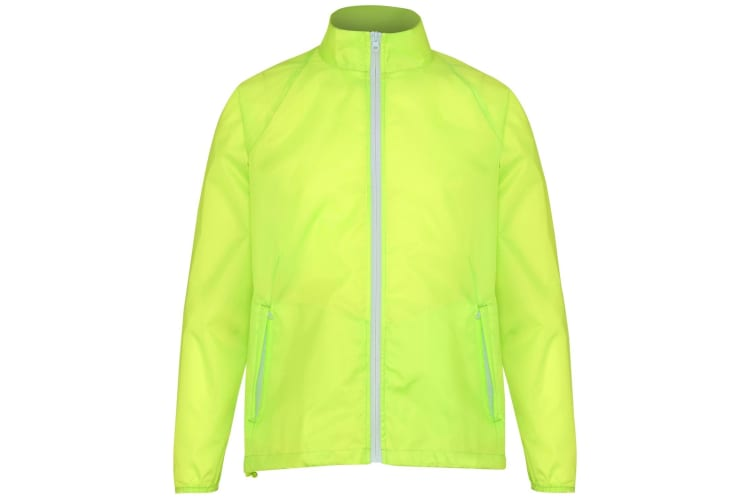 2786 Mens Contrast Lightweight Windcheater Shower Proof Jacket (Pack of 2) (Yellow/ White) (S)