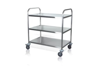 Kitchen Cart Dishes Trolley Storage Shelf with Wheels