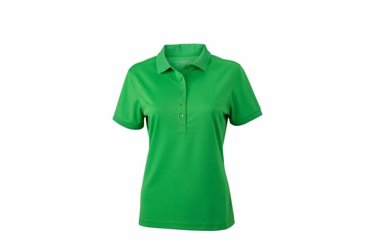 James and Nicholson Womens/Ladies Active Polo (Green) (M)