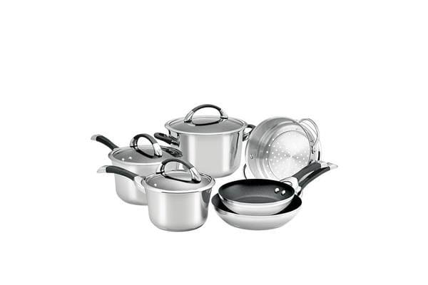 Circulon Symmetry Stainless Steel 6pc Cookware Set
