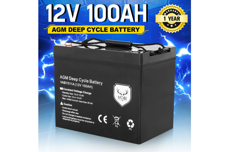 ATEM POWER 12V 135Ah AGM Battery Slim Deep Cycle Battery Portable 4WD Sealed Marine Solar