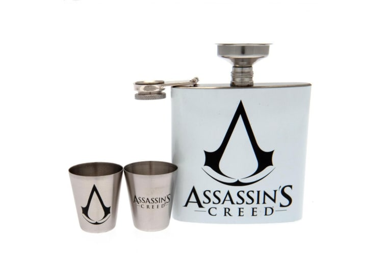 Assassins Creed Hip Flask Set (White) (One Size)