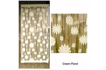 String Curtain For Window Or Door Cream Floral by Choice