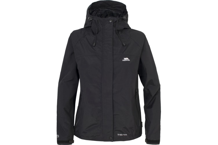 Trespass Womens/Ladies Miyake Hooded Waterproof Jacket (Black) (S)