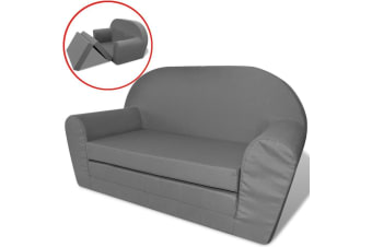 vidaXL Kids' Flip-Out Lounge Chair Grey