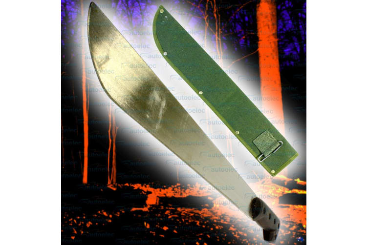 ELEMENTAL 450MM SURVIVAL HUNTING CAMPING STEEL MACHETE KNIFE & SHEATH NEW 1140