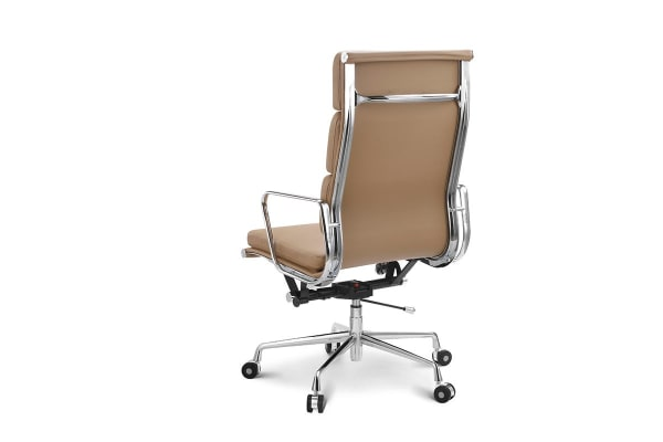 Ergolux Executive Eames Replica High Back Padded Office Chair (Light Brown)