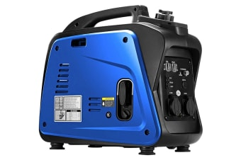 GenTrax Inverter Generator - 2.0KW Max, 1.7KW Rated, 100% Pure Sine Wave, Petrol, Portable for Camping Home - Blue