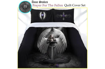 Anne Stokes Prayer For The Fallen Quilt Cover Set KING