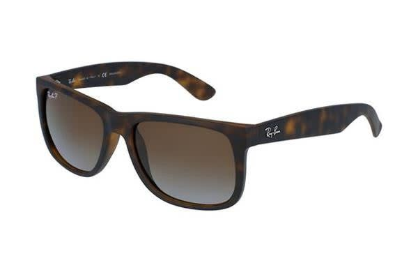 6ca56e4332f Ray-Ban RB4165 JUSTIN - Havana Rubber (Brown Gradient Polarised lens)    55--16--145 Unisex Sunglasses - Kogan.com