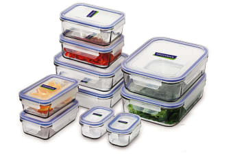 Glasslock 10 Piece Food Container Set With Lids