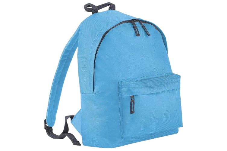 Beechfield Childrens Junior Fashion Backpack Bags / Rucksack / School (Surf Blue/ Graphite grey) (One Size)